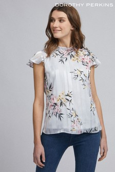 Dorothy Perkins Billie And Blossom Floral Print Stripe Top
