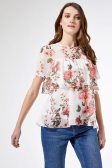 Dorothy Perkins Floral Print Tiered Top