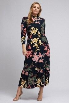 Dorothy Perkins Curve Shirred Neck Midi Dress
