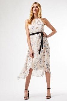 Dorothy Perkins Luxe Burnout Halter Midi Dress