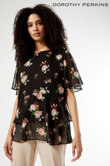 Dorothy Perkins Floral Tiered Chiffon Top
