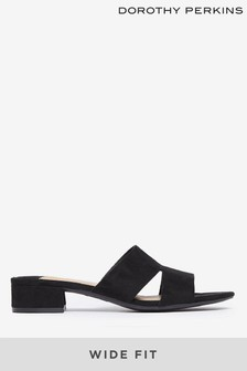 Dorothy Perkins Wide Fit Shoop Low Mule Sandal