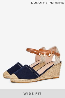 Dorothy Perkins Wide Fit Rose Two Part Espadrille Sandals