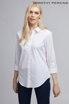 Dorothy Perkins Cotton Button Through Shirt