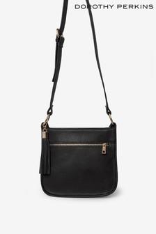 Dorothy Perkins Zip Front Tassel Crossbody Bag