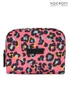 Hocroft London Daphne Medium Makeup Bag Pink Leopard