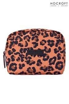 Hocroft London Daphne Medium Makeup Bag Camel Leopard