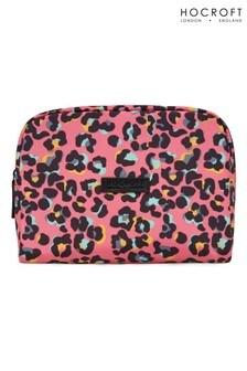 Hocroft London Tallulah Large Wash Bag Pink Leopard