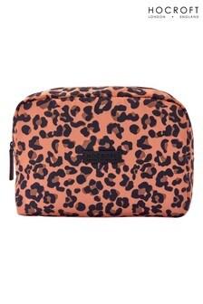 Hocroft London Tallulah Large Wash Bag Camel Leopard