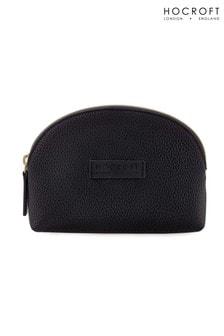 Hocroft London Roxanne Small Makeup Bag Black Fullgrain