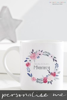 Personalised Floral Wreath Mummy Mug by Gift Collective