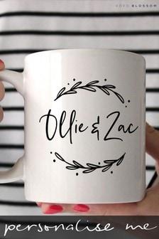 Personalised Laurel Sprig Mug by Koko Blossom