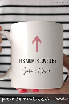 Personalised Loved Mum Mug by Koko Blossom