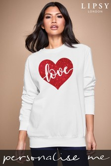 Personalised Lipsy Love In Your Heart Women's Sweatshirt by Instajunction
