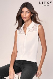 Lipsy Sleeveless Lace Insert Shirt