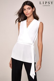 Lipsy Wrap Tie Front Top