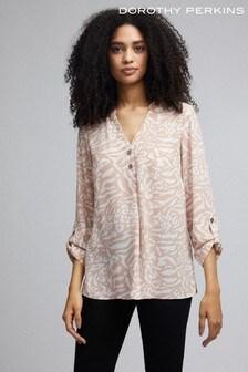 Dorothy Perkins Non-Print Balloon Sleeve Shirt
