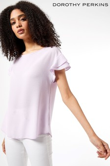 Dorothy Perkins Sustainable Ruffle Sleeve Tee
