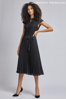 Dorothy Perkins Lace Pleated Midi Dress