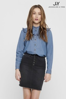 JDY Denim Frill Detail Shirt