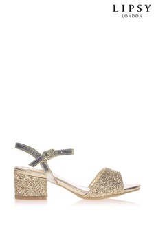 Lipsy Spot On Glitter Block Heel Sandal