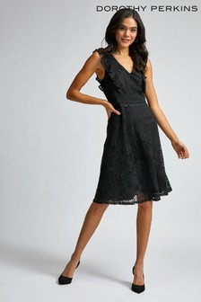 Dorothy Perkins Lace Spot Ruffle Dress