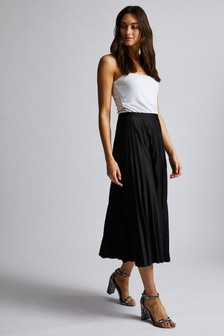 Dorothy Perkins Jersey Pleat Midi Skirt