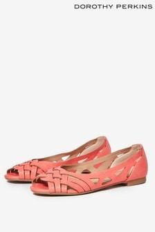 Dororthy Perkins Peep Toe Ballerina Shoes