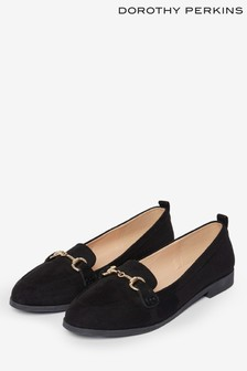 Dorothy Perkins Black Buckle Loafer
