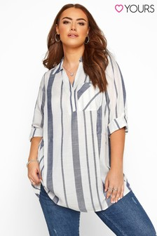 Yours Curve Overhead Stripe Shirt