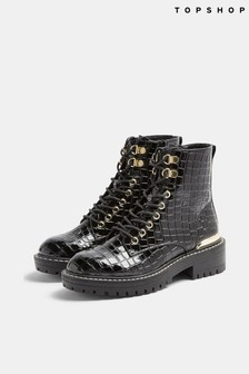 Topshop Lace Up Chunky Boot