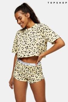 Topshop Leopard Boxy Set