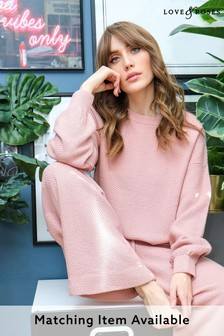 Love & Roses Waffle Knit Jumper