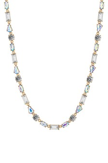 Lipsy Gold Plated Crystal Mixed Stone Short Necklace