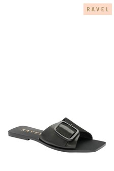 Ravel Leather Mule Sandals