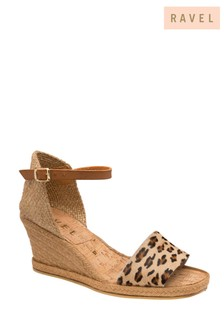 Ravel Leopard-Print Espadrille Wedge Sandals