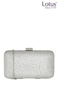 Lotus Microfibre & Diamanté Clutch Bag