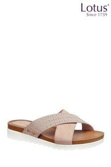 Lotus Flat Mule Sandals