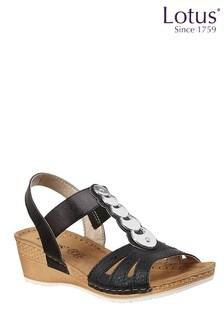 Lotus Wedge Sandal