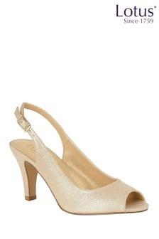 Lotus Footwear Metallic Slingback Sandal