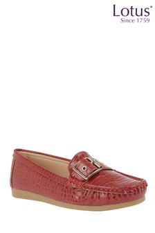 Lotus Slip-On Loafers
