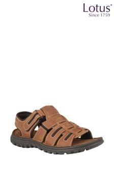 Lotus Tan Velcro Sandals