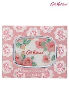 Cath Kidston Freston Cassis & Rose Compact Travel Mirror Lip Balm Care In Gift Box