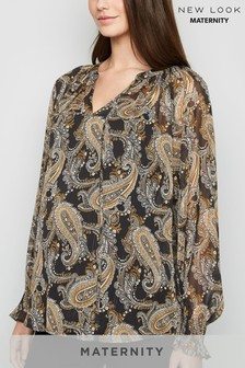 New Look Maternity Georgina Paisley Shell Blouse