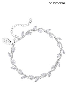 Jon Richard Plated Pave Wave Leaf Bracelet