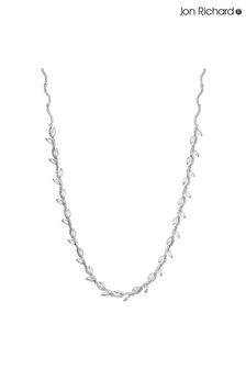 Jon Richard Plated Pave Wave Leaf Collar Necklace