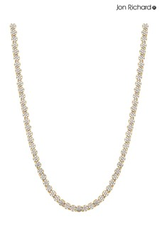 Jon Richard Gold Fine Pave Tennis Necklace