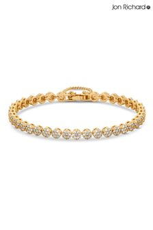 Jon Richard Gold Fine Pave Tennis Bracelet