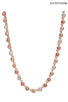 Jon Richard Rose Gold Plated Tennis Embellished With Swarovski Crystals Necklace