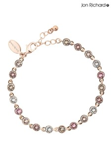Jon Richard Rose Gold Plated Tennis Embellished With Swarovski Crystals Bracelet